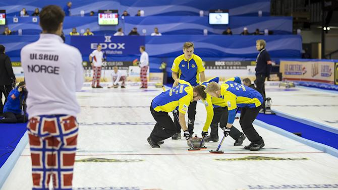 European Curling Championships 2015. A-Division men's semi-finals. Sweden-Norway