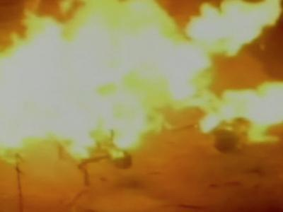 Raw: Balls of Flames After Okla. Gas Explosion
