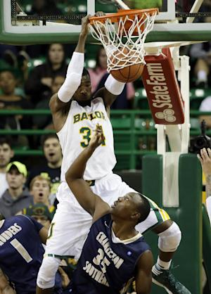 No. 20 Baylor wins 69-64 over Charleston Southern