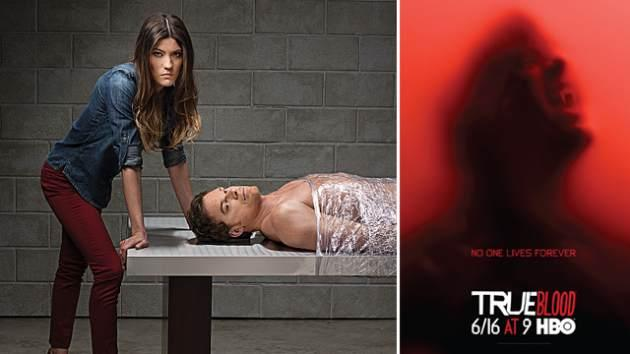 Jennifer Carpenter and Michael C. Hall from Season 8 of Showtime's 'Dexter' (left); HBO's 'True Blood' Season 6 key-art (right) -- HBOShowtime