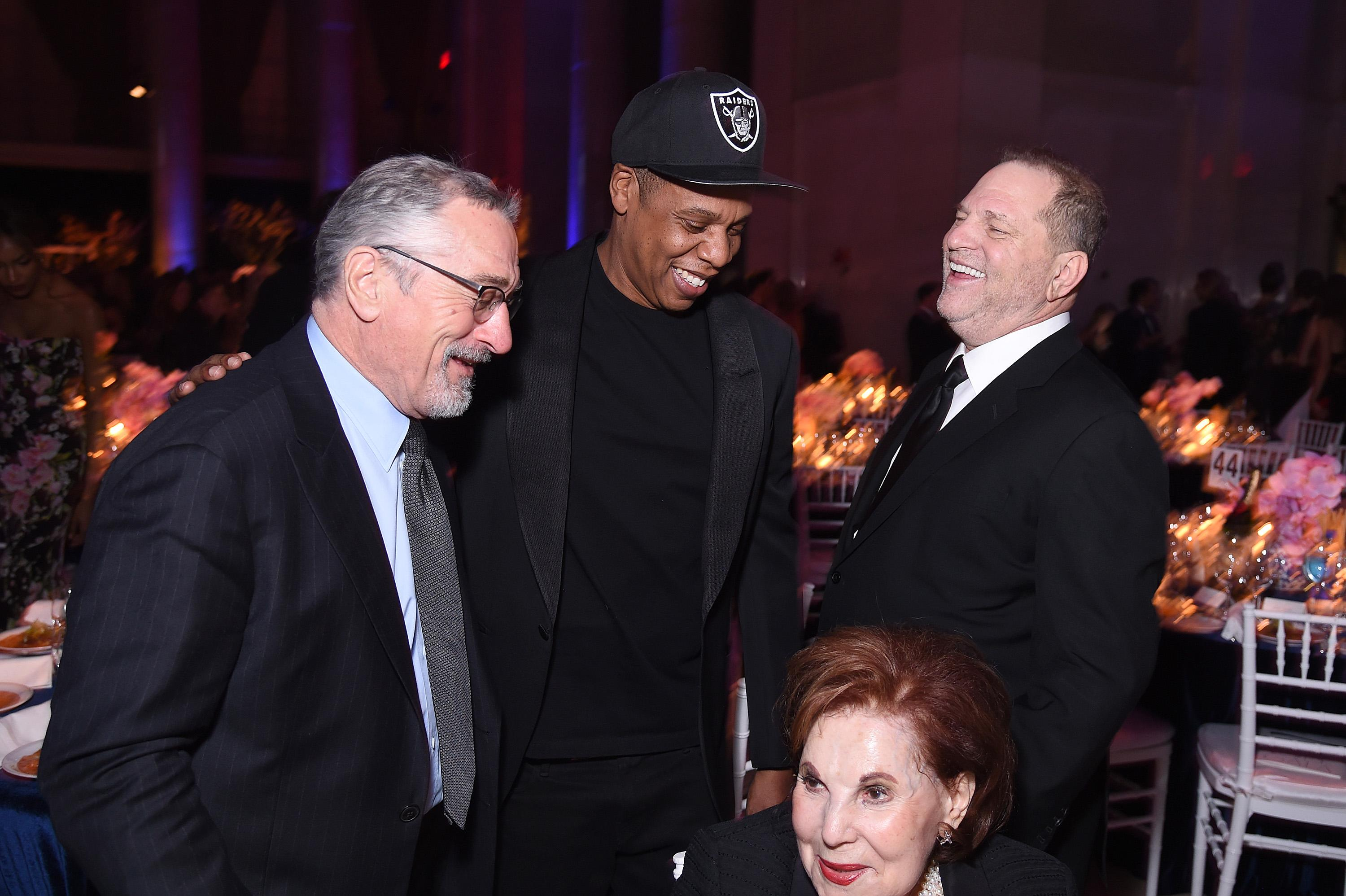 Robert De Niro Jokes Around With Honoree Harvey Weinstein at amfAR New York Gala