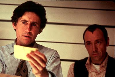 Gabriel Byrne and Kevin Spacey in MGM's The Usual Suspects