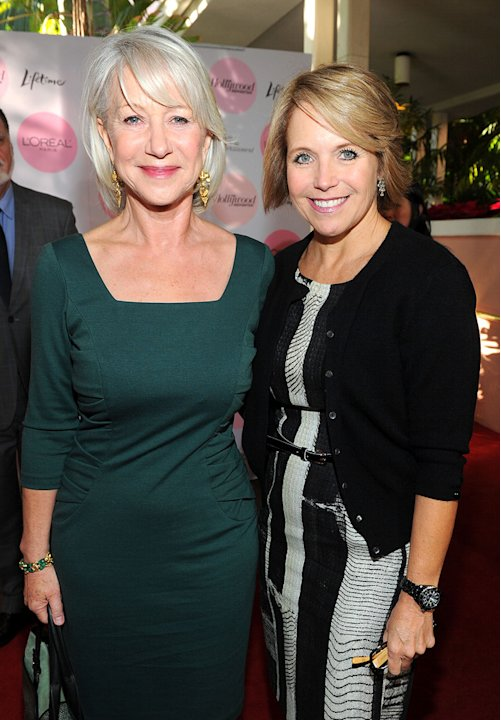 Hollywood Reporters Women in Entertainment Breakfast 2010 Helen Mirren Katie Couric