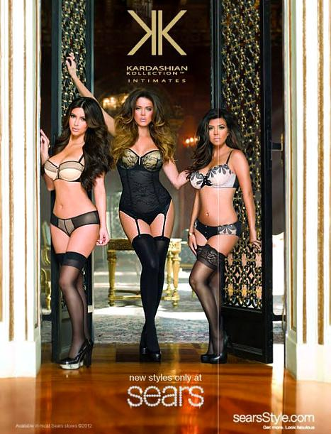 PIC: Kim Kardashian Works Sexy Lingerie in New Kardashian Kollection Ad