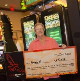 Tarzan(R) Lord of the Jungle(TM) Progressive Pays $282,527 Jackpot at Red Hawk Casino