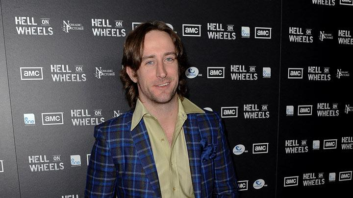 "Philip Burke arrives at the premiere of AMC's ""Hell on Wheels"" at LA Live on October 27, 2011 in Los Angeles, California."