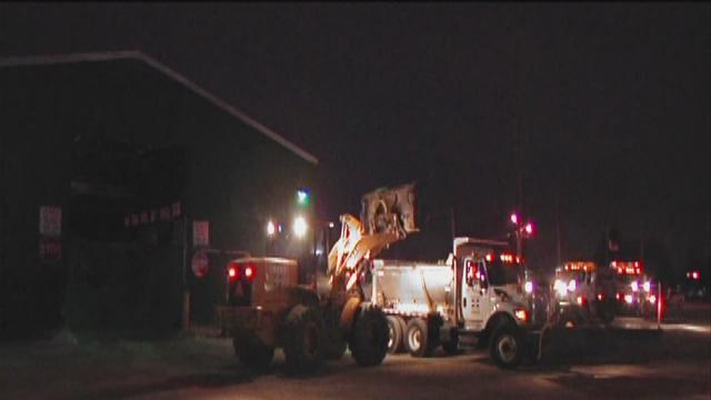 Salt trucks, plows prepare roads for snow