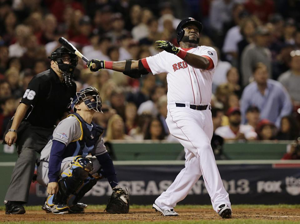 Ortiz hits 2 HRs, Red Sox lead Rays 2-0 in ALDS