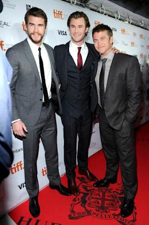 Liam,Chris and Luke Hemsworth attend the 'Rush' premiere during the 2013 Toronto International Film Festival at Roy Thomson Hall on September 8, 2013 in Toronto, Canada -- Getty Images