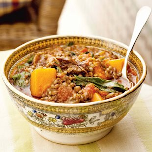 Lentils with Swiss Chard and Butternut Squash: Recipes