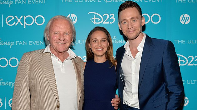 Anthony Hopkins, Natalie Portman and Tom Hiddleston at D23