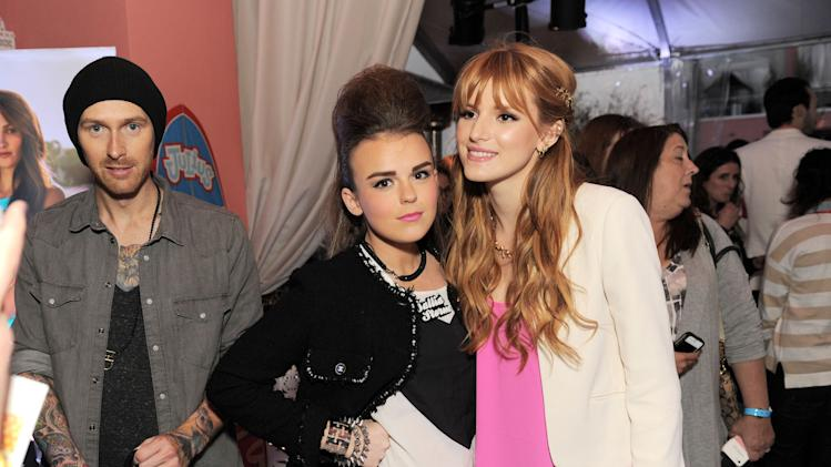 "Tallia Storm and Bella Thorne at the Paul Frank ""Let's Have a Fun Day"" Event for 2013 Collection on Monday, April, 8th, 2013 in Los Angeles. (Photo by Jordan Strauss/Invision for Saban Brands/AP Images)"