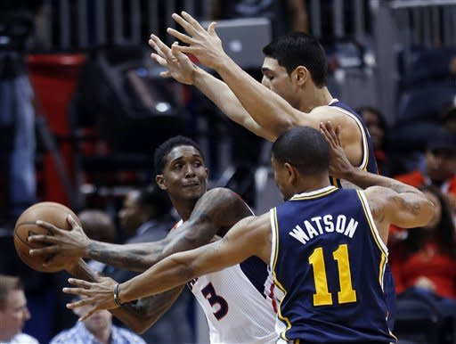 Harris has 24 as Hawks rally past Jazz, 103-95