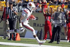 No. 18 Louisville races past Pitt 45-35