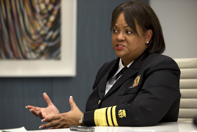 In this Dec. 5, 2012, photo, Regina Benjamin, Surgeon General of the United States, is interviewed after speaking about health disparities in Washington. African-American women have the highest rate of obesity of any group of Americans. Four out of five black women have a body mass index above 25 percent, the threshold for being overweight or obese, according to the Centers for Disease Control and Prevention. By comparison, nearly two-thirds of all Americans are in this category, the CDC said. While first lady Michelle Obama has succeeded at encouraging exercise through her Lets Move! campaign, the spark for this current activity among black women most likely was lit last year when Surgeon General Regina Benjamin observed publicly that women must stop allowing concern about their hair prevent them from exercising. (AP Photo/Jacquelyn Martin)