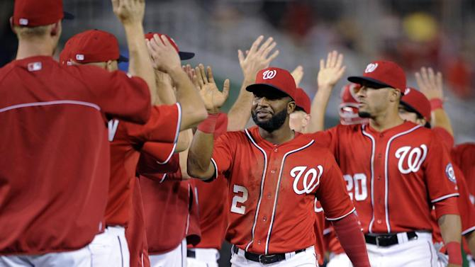 Garza knocked out in 1st; Nats beat Brewers 8-3