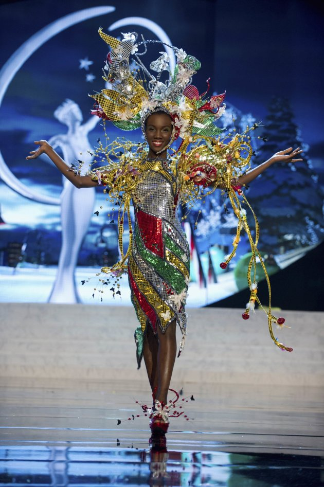 Miss Guyana Ruqayyah Boyer performs onstage at the 2012 Miss Universe ... Lubica Stepanova