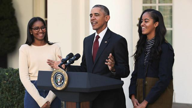 Sasha and Malia Obama Looked Grown Up and Glam at the Annual Turkey Pardon