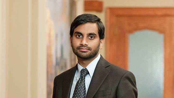 "Aziz Ansari stars as Tom Haverford in ""Parks and Recreation."""
