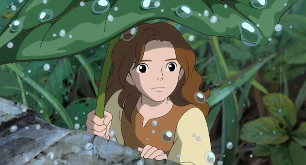 In this image released by Disney, the character Arrietty, voiced by Bridgit Mender, is shown in a scene from the animated feature, &quot;The Secret World of Arrietty.&quot; (AP Photo/Disney)