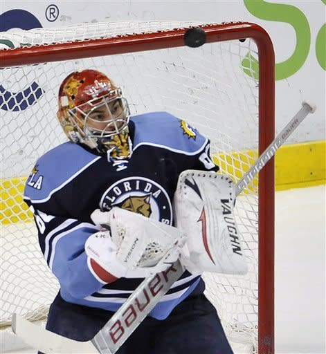 Versteeg's OT goal lifts Panthers over Canes, 3-2