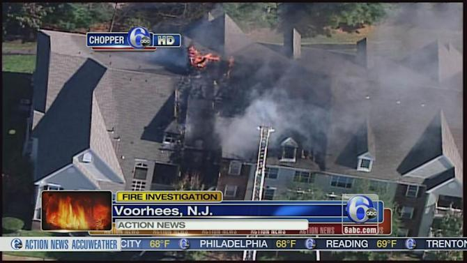 Apartments damaged in Voorhees fire