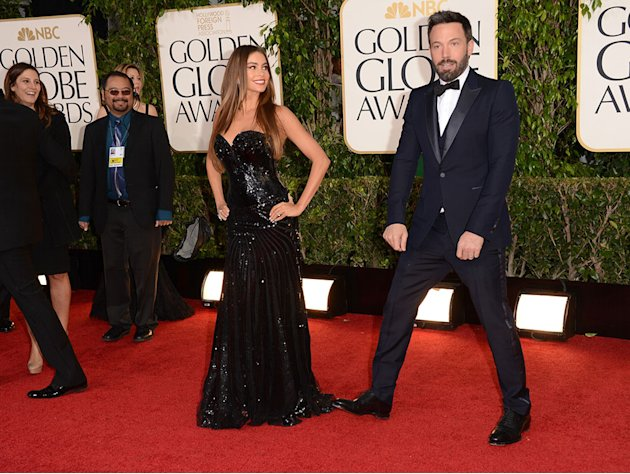 70th Annual Golden Globe Awards - Arrivals: Sofia Vergara and Ben Affleck