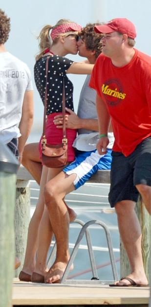 New couple Taylor Swift and Conor Kennedy share a kiss in Hyannisport, Mass., on August 17, 2012  -- WENN