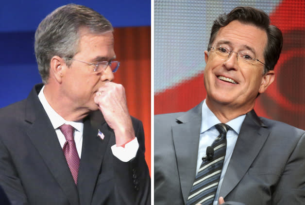 Stephen Colbert Mocks Jeb Bush Plan To Run Campaign Contest Off 'Late Show' Debut