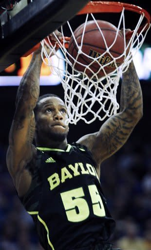 No. 12 Baylor upsets No. 3 Kansas in Big 12 semis