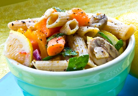 California-Style Lemon Pepper Pasta Salad