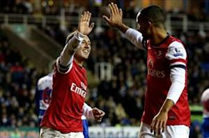 Reading 2-5 Arsenal: Cazorla treble pulls Gunners within two points of fourth