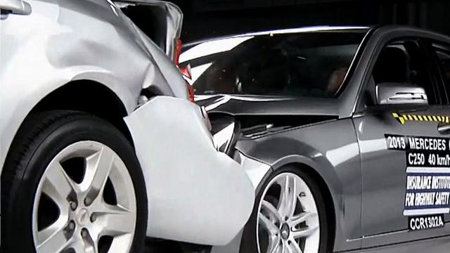Auto collision warning systems, braking measured in first-ever test