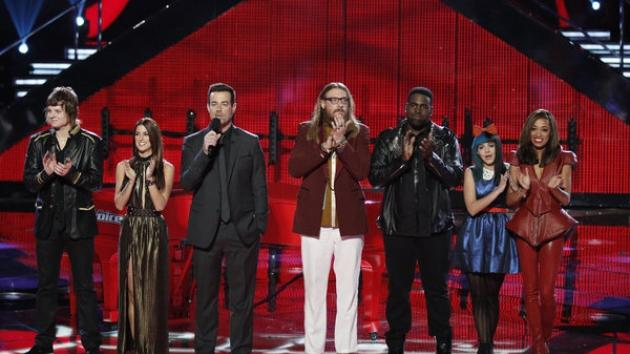 Contestants on NBC's 'The Voice' -- NBC