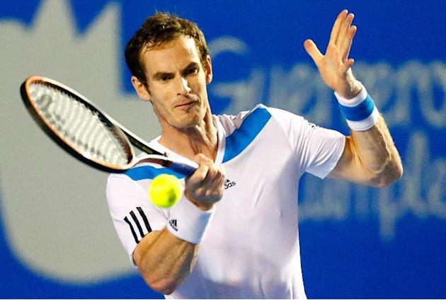 Andy Murray pictured during a Mexico ATP Open in Acapulco on February 28, 2014