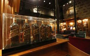 The museum room is seen at the Diageo Cardhu distillery in Scotland