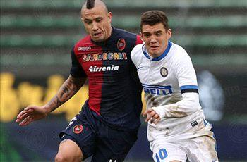 Cagliari 1-1 Inter: Nainggolan nets to keep Mazzarri's men off top spot
