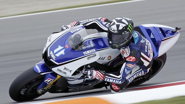 Ben Spies of Yamaha MotoGP