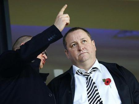 Newcastle United owner Mike Ashley attends their English Premier League soccer match against West Bromwich Albion at The Hawthorns in West Bromwich