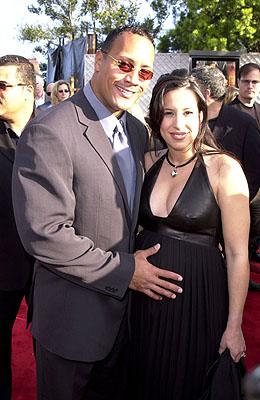 The Rock and his wife at the Universal city premiere of Universal's The Mummy Returns