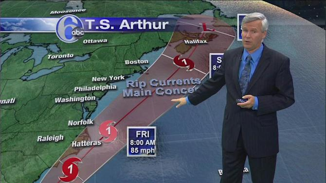 Latest on Tropical Storm Arthur's impact here