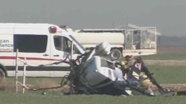 Helicopter crash in Fresno Co; pilot alive