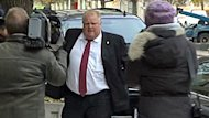Toronto Mayor Rob Ford is seen outside court on Tuesday.