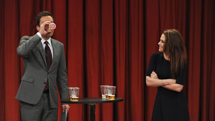 "Kristen Stewart Visits ""Late Night With Jimmy Fallon"""