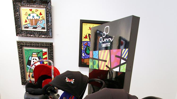 COMMERCIAL IMAGE - In this photograph taken by AP Images for Quinny and Maxi-Cosi by Britto, Quinny and Maxi-Cosi, Europe's premier juvenile product brands, unveil a first-of-its-kind collection celebrating art and fashion in collaboration with internationally renowned artist Romero Britto on Thursday, Aug. 23, 2012 in Miami. (Marc Serota/AP Images for Quinny and Maxi-Cosi by Britto)
