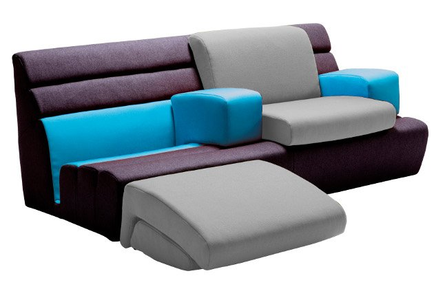 Sofa Mit Relaxfunktion Links Und Rechts Leder Weiss Woody 41 01066 ...