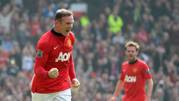 Wayne Rooney Goal Against Aston Villa celebrates after scoring his team s second goal against Aston Villa