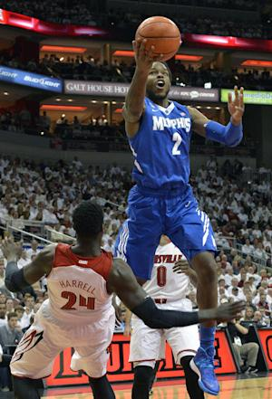 No. 24 Memphis upsets No. 12 Louisville, 73-67