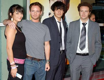 Premiere: Alana Masterson, Christopher Masterson, Jordan Masterson and Danny Masterson at the Hollywood premiere of Universal Pictures' The 40-Year-Old Virgin - 8/11/2005