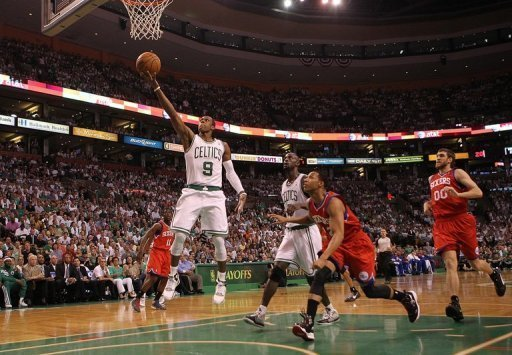 Rajon Rondo scored 18 points with 10 assists and 10 rebounds as the Celtics won the decisive game seven